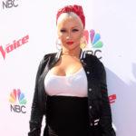 Christina Aguilera con maquillaje en The Voice