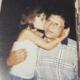 Ariadna pequeña con su padre