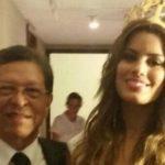 Ariadna y su padre, Miss Colombia.